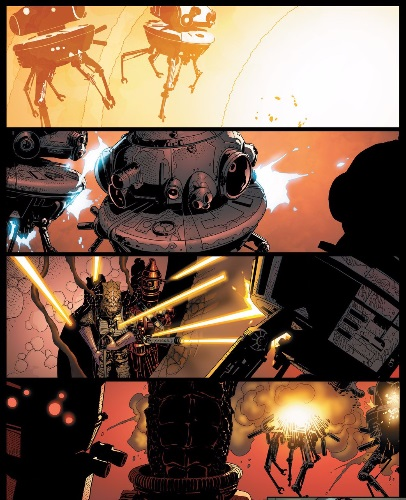 Bossk and IG-99 battle droids