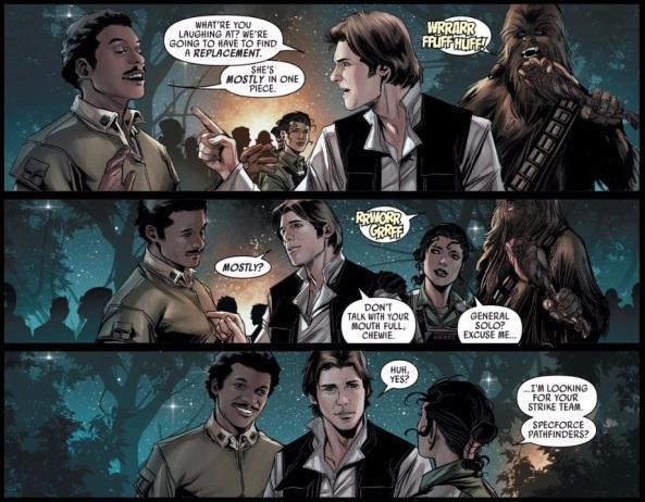 Han, Lando and Chewie reunited