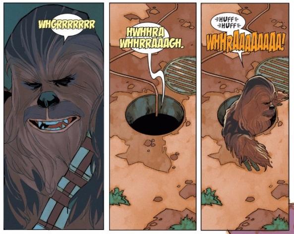 Chewie hates it