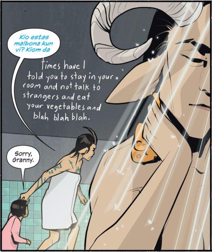 Transvestite manga saga with image