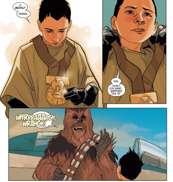 chewbacca gives away his medal