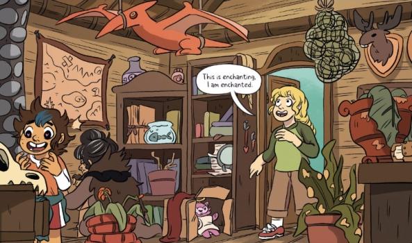 enchanted school cabin