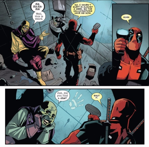 Deadpool finds a clue