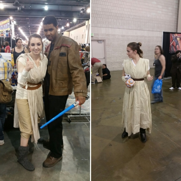 Lots of Reys this weekend, but that tiny BB-8 made it for me