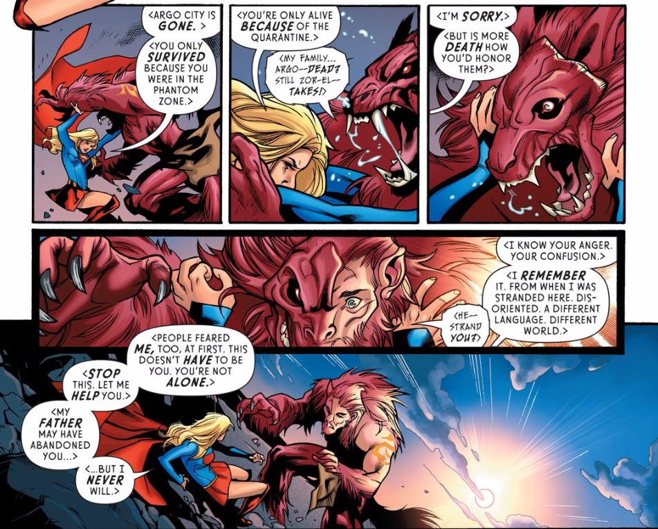 Supergirl Rebirth 1 Retcon Punch