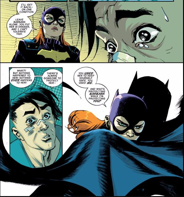 Robin Pulling Off Batgirls Panties Pic