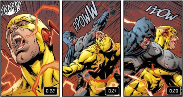 Batman fights Reverse Flash