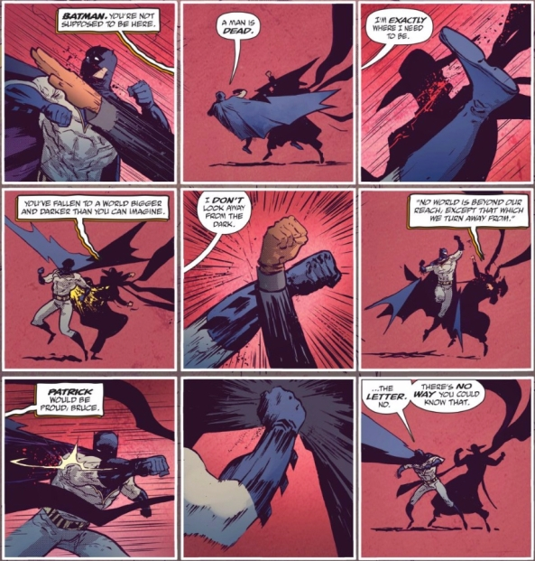 Batman fights the Shadow
