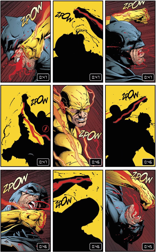 Reverse Flash fights Batman