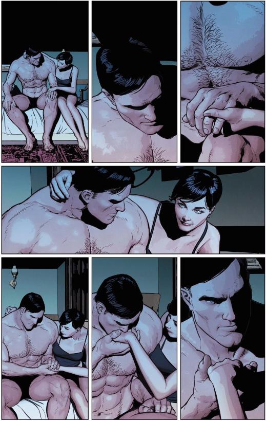 Selina comforts Bruce